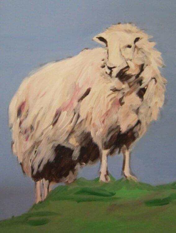 Malerei von Monika Paefgen-Richter - das Schaf