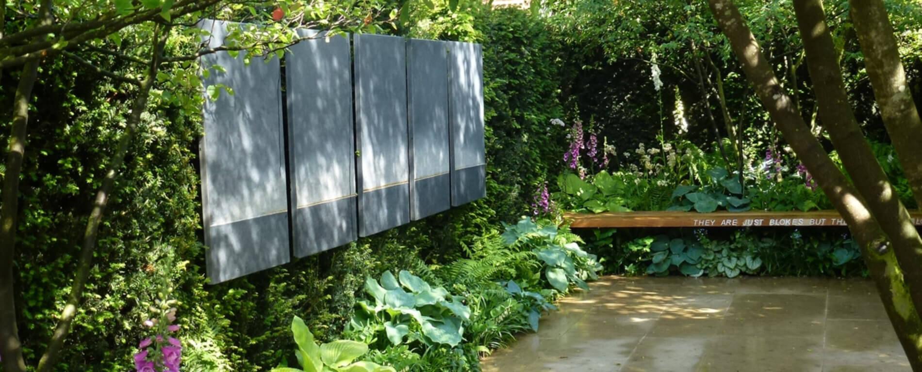 Malerei in der Gartengestaltung