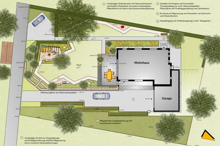 Gartengestaltung f r jung und alt studio diagonal - Gartengestaltung grundriss ...
