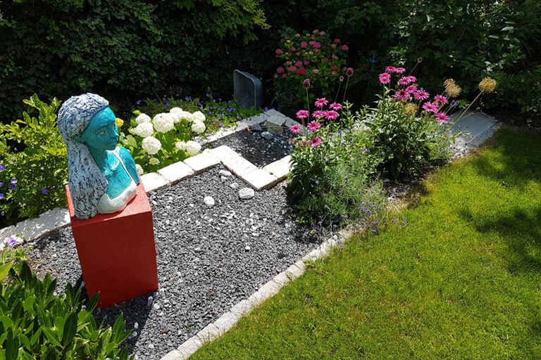 Gartengestaltung mit Kunst in Konstanz.