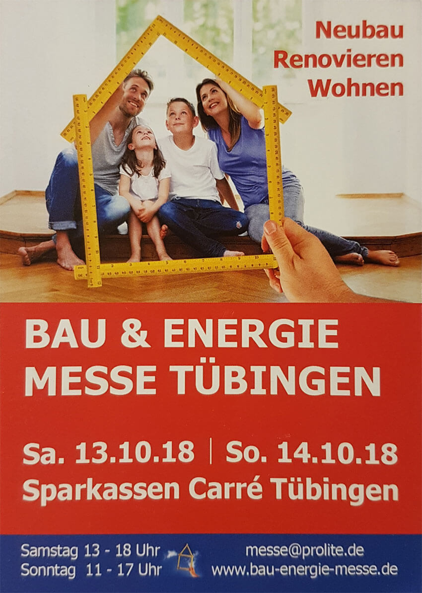 Logo - Bau- und Energiemesse Tübingen 2018