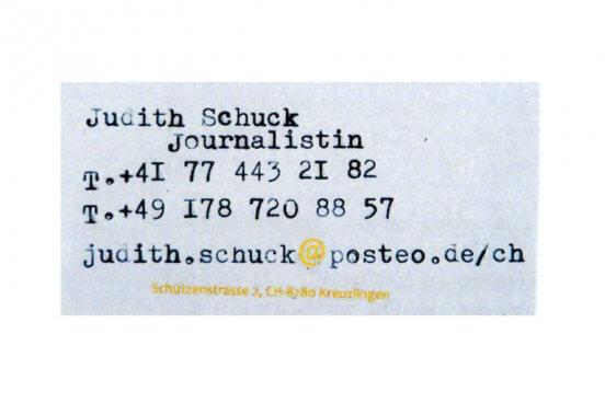 Freie Journalistin Judith Schuck
