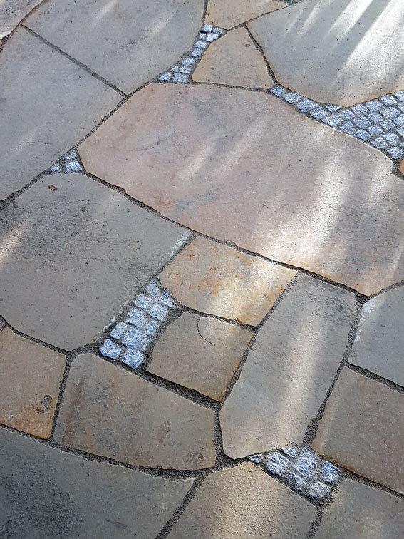 Terrassenplatten polygonal